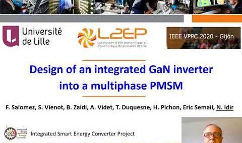 Design of an Integrated GaN Inverter into a Multiphase PMSM - présentation des travaux CE2I par Nadir IDIR lors de la conférence VPPC-IEEE 2020